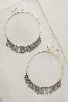 Anise Fringe Hoop Earrings