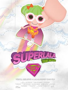 Here's the 15th in our series of blockbuster movie posters, with a sew cute twist. Can you guess which movie inspired this poster? #lalaloopsy #superhero #manofsteel #superman