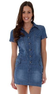 e6175cac724 Short Sleeve Denim Dress. Denim Mini Dress  summerfashion  festivalfashion  Short Sleeve Denim Dress