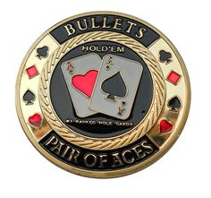 Gold Plated Poker Chip Card Protector