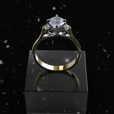 Carat Forever One Moissanite Diamond Engagement Ring Diamond Solitaire Rings, Moissanite Diamonds, Diamond Engagement Rings, Diamond Photography, Sparkle Outfit, Diamond Eyes, Diamond Design, Jewelry Rings, Jewellery
