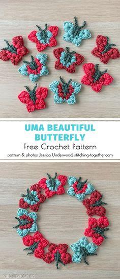 Crochet Faces, Crochet Gifts, Cute Crochet, Crochet Butterfly Pattern, Crochet Flowers, Crochet Patterns, Dress Patterns, Hand Embroidery Patterns Free, Embroidery Flowers Pattern
