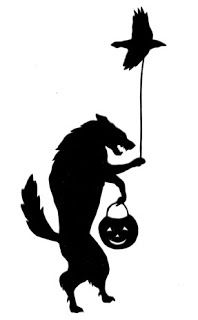 free papercutting template by Cindy Bean: Halloween Werewolf