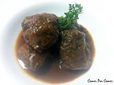 Carrillada en salsa. Receta (recipe, recipe), comida (food, food)