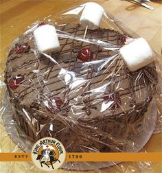 Use Marshmallows on Sticks to Protect a Cake from Plastic Wrap while Transporting...