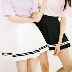 """Style:japanese Color:white.black Size:one size Waist:60cm/23.62""""-90cm/35.43"""" Skirt length:38cm/14.96"""" Tips: *Please double check above size and consider your measurements before ordering,thank you ^_^ Visiting Store: Http://cuteharajuku.storenvy.com Find more cute fashion things,..."""