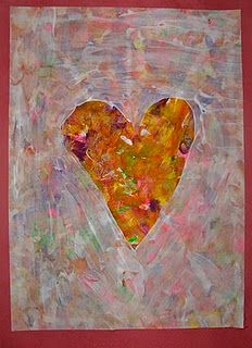 I like how the teacher introduced a bit of fun making jim dine inspired hearts for valentines day yr 7-9