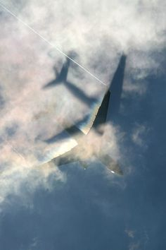 Airplane shadow on the clouds. Sky Aesthetic, Travel Aesthetic, Airplane Pilot, Airplane View, Airplane Photography, Travel Photography, Airplane Wallpaper, Passenger Aircraft, Commercial Aircraft