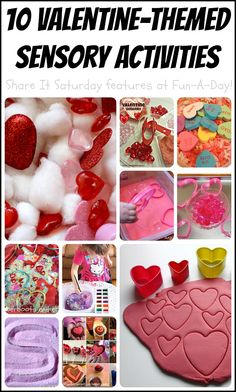 10 valentine sensory activities for the kiddos (Share it Saturday features) day ideas activities 10 Valentine Sensory Activities - Fun-A-Day! Valentine Sensory, Valentine Theme, Valentines Day Activities, Valentines Day Party, Valentine Day Crafts, Valentine Nails, Valentine Ideas, Sensory Activities, Sensory Play