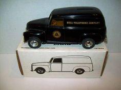 1991 ERTL 1950 PANEL TRUCK BANK BELL TELEPHONE COMPANY DIE CAST