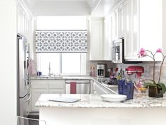 Learn how to make this pretty DIY cornice + more ideas for creating and upgrading curtains, shades, blinds and more. >> http://www.diynetwork.com/made-and-remade/learn-it/window-treatments-for-spring?soc=pinterest