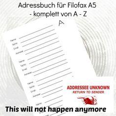 Adressbuch A5 - Adressübersicht - Download