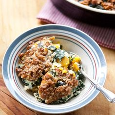 Baked Butternut Squash and Kale Casserole with Crispy Parmesan Topping
