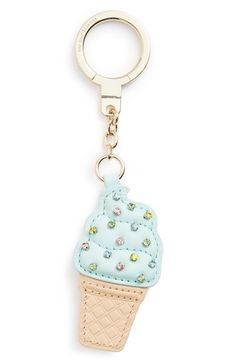 Personalized Photo Charms Compatible with Pandora Bracelets. kate spade new york ice cream cone bag charm available at Leather Keyring, Leather Jewelry, New York Ice Cream, Cute Keychain, Keychains, Charm Jewelry, Pink Jewelry, Purses And Bags, Kate Spade