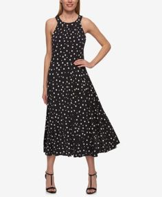 Tommy Hilfiger Polka-Dot Midi Dress