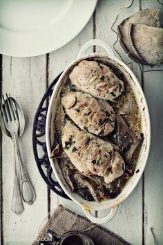 Kurczak zapiekany z boczniakami -  Adrian's Perfect Dinner :-) Pinned by #AdrianWerner