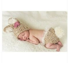 Brown baby rabbit Color Baby Photography Prop Handmade Crochet Hats Baby Animal Hat Cap Baby Costume on Etsy,