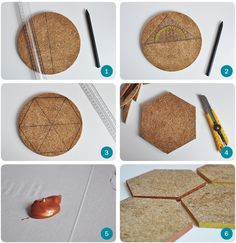 DIY geometric Cork coasters by Team Confetti. www.teamconfetti.nl