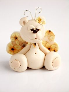 Angel teddy bear SALE by natbears on Etsy