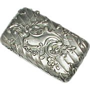 French Art Nouveau Silver 800-900 Vesta Match Holder Striker Match Safe