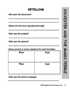 Printables Sylvester And The Magic Pebble Worksheets sylvester and the magic pebble sequencing worksheet book club lesson plans activities package ccss teacherspayteachers
