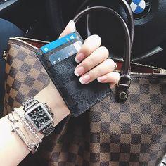 Classic Louis Vuitton Damier Tote Bag & Wallet At Cheap Price.