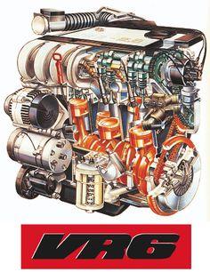 The cutaway, exploded view, and other such things thread! Volkswagen Jetta, Vw Mk1, Vw Passat, Vw Golf Vr6, Golf Mk3, Jetta Vr6, Vr6 Engine, Car Part Art, Vw Corrado