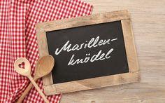 Alpen-Kulinarik: Gesunde Marillenzeit - Rezept für gesunde Marillenknödel Chalkboard Quotes, Art Quotes, Food And Drink, Snacks, Drinks, Winter, Frame, Onion Soup Recipes, Sandwich Spread