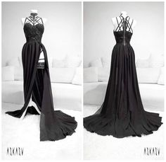 "Polubienia: 5,548, komentarze: 94 – ASKASU (@askasublue) na Instagramie: ""New evening gown   #gown #black #dress #lace #chiffon #harness #darkfashion #night #redcarpet…"""
