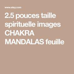 2.5 pouces taille spirituelle images CHAKRA MANDALAS feuille