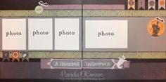 A Haunted Halloween Scrapbook Layout by Pamela O'Connor using CTMH Moonlight