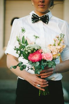 Bridesmaid in menswear | Chantel Marie Photography | Burnett's Boards