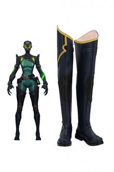 Valorant Viper Cosplay Boots Cosplay Boots, Cosplay Wigs, Cosplay Costumes, Jean Grey Phoenix, Viper, Dress Making, Calves, Superhero, Leather