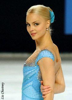Kiira Korpi Blue Figure Skating / Ice Skating dress inspiration for Sk8 Gr8 Designs.