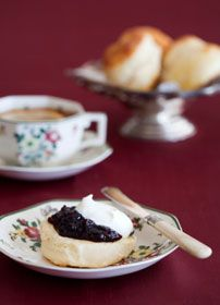 Royal Wedding Tea with recipes for British Tea, English Muffins (crumpets), Cream Tea Scones, and Clotted Cream.