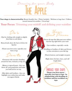 Dressing for Your Body // The Apple - Kinks are the new Pink - Women's fashion Apple Body Shape Outfits, Apple Shape Fashion, Dresses For Apple Shape, Clothes For Apple Shape, Apple Body Type, Apple Body Shapes, Dressing Your Body Type, Dressing An Apple Shape, Inverted Triangle Body