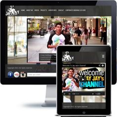 Jay Jay Entertainer Company website built with PHP/HTML, JQuery using responsive web design.