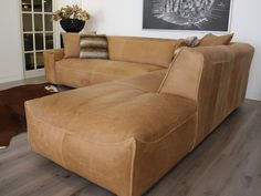 Lederen hoekbank Sharp Decor, Furniture, Modern Furniture, Sofa, Sectional, Home, Couch, Sectional Couch, Home Decor