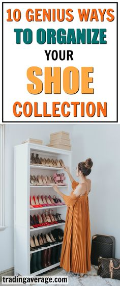 Looking for some shoe storage ideas? These 9 shoe storage ideas give you plenty of options for any type of shoe in any type of space. Keep your shoes organized.