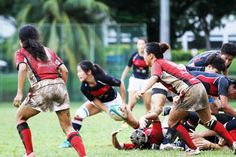 Women's rugby Womens Rugby, Singapore, Wrestling, Running, Sports, Lucha Libre, Hs Sports, Keep Running, Excercise