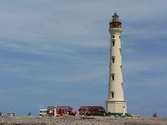 Famous lighthouse in Aruba