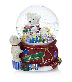 Harrods crystal snow ball