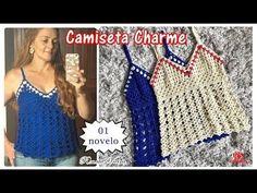 Camiseta Charme em croche - muito fácil - Renata Vieira - YouTube