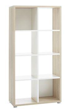 Room divider PRICE STAR 8shelf oak/white | JYSK