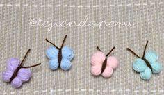 Mariposa, butterfly, borboleta, farfalla a crochet ❤️. Video tutorial paso a paso!