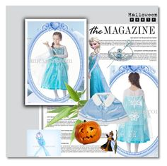 """""""Hallowmas Frozen Costume Elsa Princess Cosplay Dress"""" by evermissjody ❤ liked on Polyvore featuring Disney"""