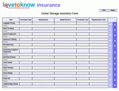 printable home inventory forms