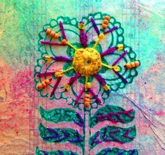 Craft| Hand Embroidery | Stitches | Indian Mirrors | Shisha