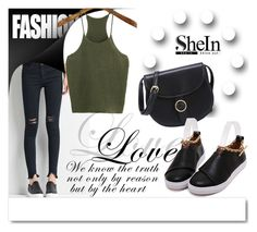 """SheIn 2/1"" by melissa995 ❤ liked on Polyvore featuring White Label"