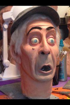 The Groundskeeper Haunted Mansion Inspired Prop head - HauntForum member Great Pumpkin